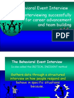 Behav Event Interview-Lec 5