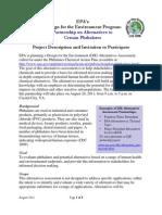 Partnership on Alternatives to Certain Phthalates