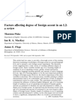 Factors Affecting Degree o Foreing Accent in l2