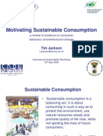Motivating Sustainable Consumption