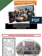 Manifiesto por una Educación abierta y democrática