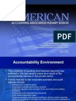 The American Accounting Association Plenary Session