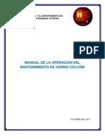 Manual de Mantenimiento Horno Ciclone