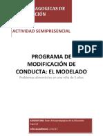 BASES PSICOPEDAGOGICAS DE LA EDUCACIÓN modificación de conducta