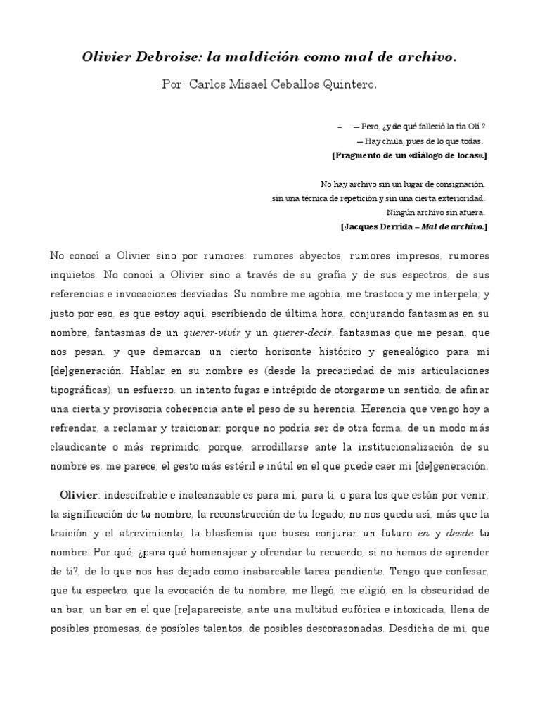 Por Carlos Misael Ceballos Quintero