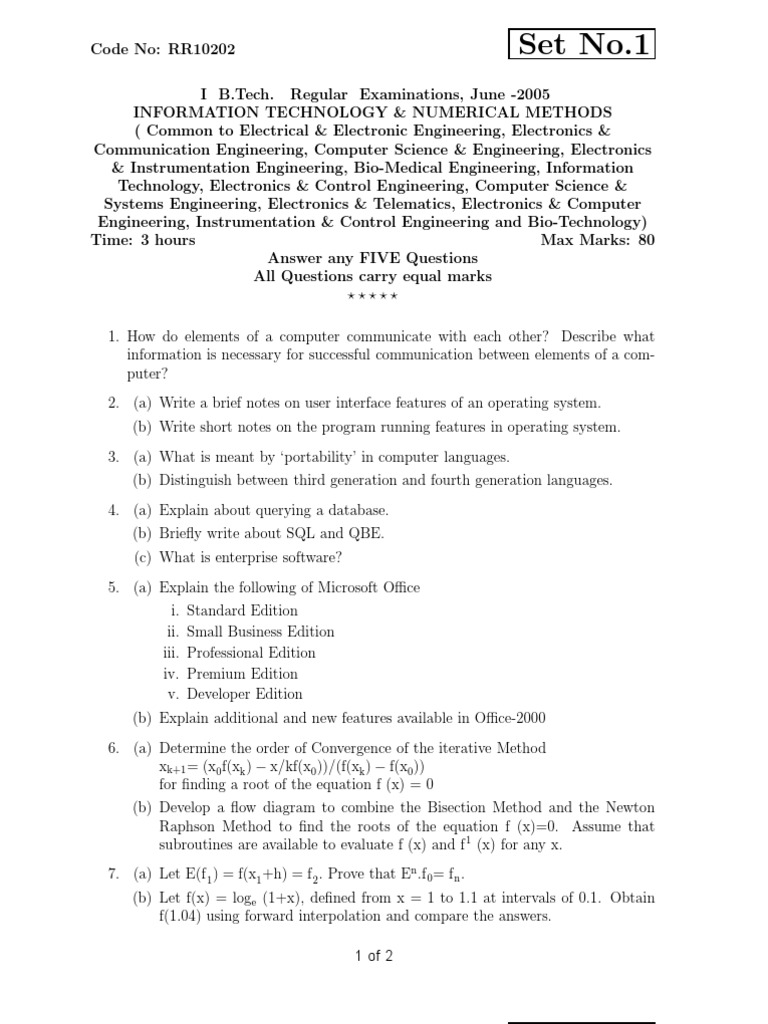 information technology questions