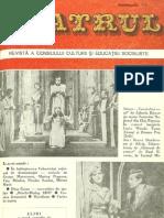 Revista Teatrul, nr. 4, anul XXIII, aprilie 1978