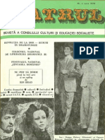Revista Teatrul, nr. 6, anul XXIII, iunie 1978