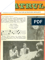 Revista Teatrul, nr. 11, anul XXIII, noiembrie 1978