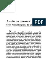 BENJAMIN,Walter.a Crise Do Romance in Obras Escolhidas v1