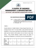 Maintainance Management