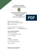 SENTENCIA CARLOS GARCÍA LANDÁZABAL -Lesiones personales-