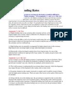 Reducing Lending Rates
