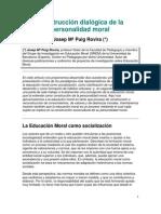 Construcción dialógica de la personalidad moral (jm puig rovira)