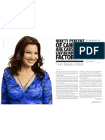 90% of Cancers caused by environmental factors says Fran Drescher (Part 1)