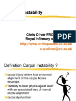 Carpal Instability