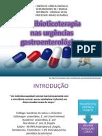 Uso dos antibioticos nas urgências gastroenterológicas