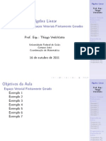 Aula de Álgebra Linear - 13 de Outubro