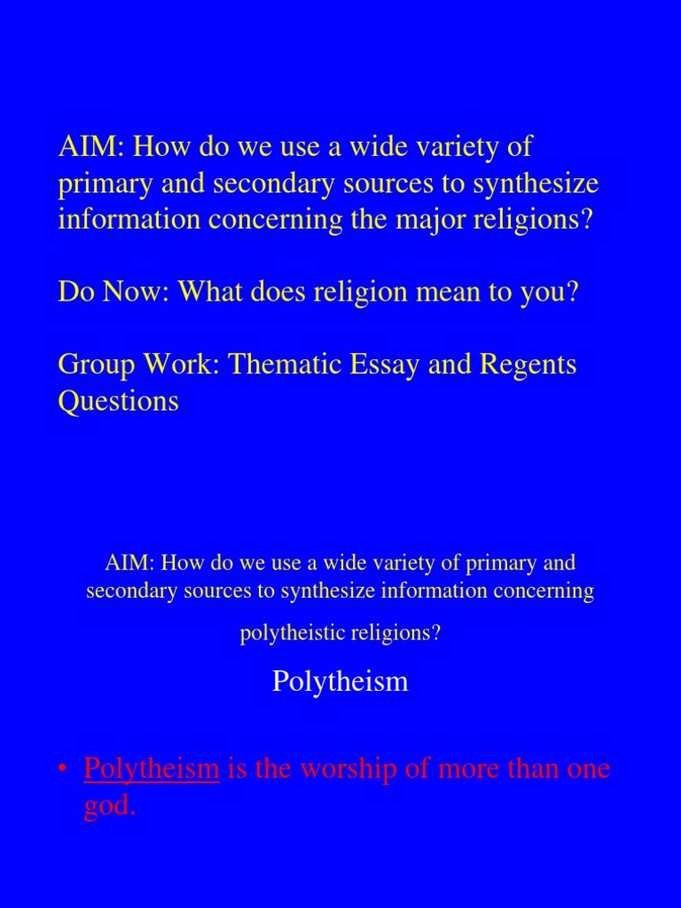 what does religion mean to you essay
