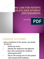 Nursing Care for Patients With Ear,Eye,Nose &Throat2