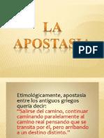 Apostasia preparado por Evelyn Vera de Chile