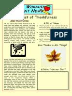 Job's Thankfuflness Parent Newsletter 6
