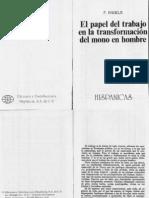 Engels.El papel del trabajo en la transformación del hombre (1)