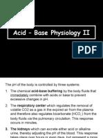 Acid-Base Physiology 7030 II