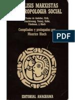 Analisis Marxistas y antropologia social