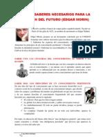 LOS SIETE SABERES NECESARIOS PARA UNA EDUCACIÓN  DEL FUTURO (EDGAR MORIN)