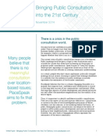 White Paper—Bringing Public Consultation into the 21st Century