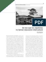 """""""De eso que los zapatistas no llaman educación intercultural"""", revista Decisio (CREFAL) núm. 24, 2009"""