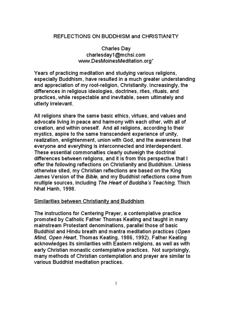 buddhism and christianity similarities