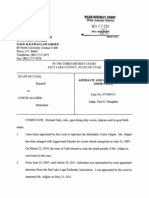 Motion to Disqualify Affidavit