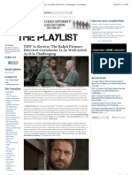 Ralph Fiennes-Directed 'Coriolanus' Is As Well-Acted As It Is Challenging  The Playlist