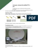 Guia de Instalacion Para Antena Kit Satelital FTA