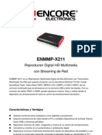 ENMMP-X211 Re Product Or Digital HD Multimedia Con Streaming de Red