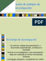 Trabajos Presentacion de Investigacion