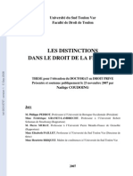 Distinction en Droit de La Filiation