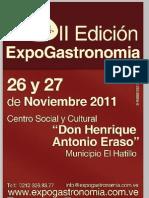 Brochure de Invitación II Edición ExpoGastronomía El Hatillo
