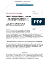 Scientia Agricola - MANEJO DA IRRIGAÇÃO DA CULTURA DA ALFACE (Lactuca sativa L