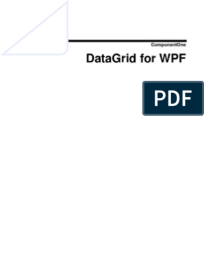 C1 WPF Datagrid ion | Extensible Application Markup Language
