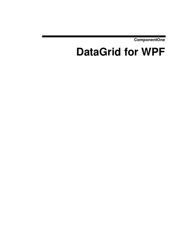 C1 WPF Datagrid ion   Extensible Application Markup Language
