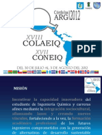 Información Internacionales. XVIII COLAEIQ - XVII CONEIQ - Córdoba 2012. 07.10