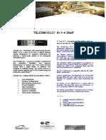 TelcoBriges N1 4 Shelf Spec Sheet