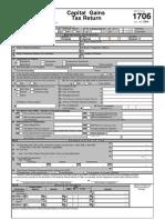 [BIR Form 1706] Capital Gains Tax Returm