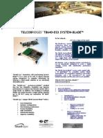 TelcoBriges TB-640-DS3 Spec Sheet