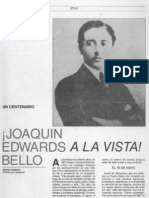 Calderón, Alfonso - Joaquín Edwards Bello a la vista!