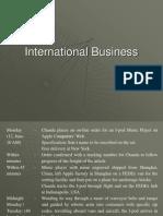 International Business (ExPGDM - Batch 2)