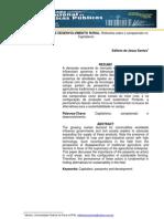 QUESTÃO AGRÁRIA E DESENVOLVIMENTO RURAL